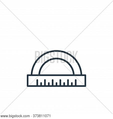 curve ruler icon isolated on white background from education collection. curve ruler icon trendy and