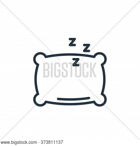pillow icon isolated on white background from stay at home collection. pillow icon trendy and modern