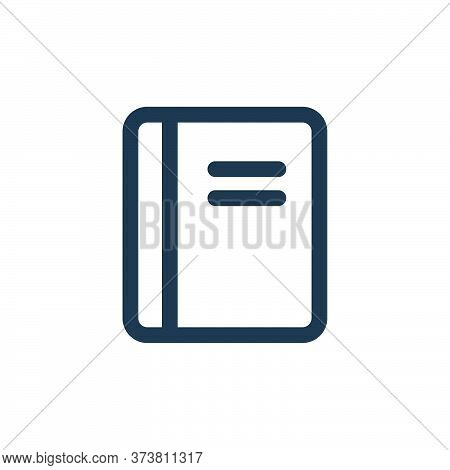 book icon isolated on white background from interface collection. book icon trendy and modern book s