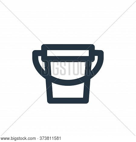 bucket icon isolated on white background from bathroom collection. bucket icon trendy and modern buc