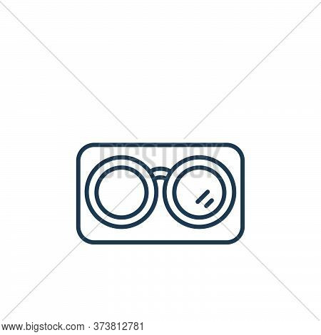 glasses icon isolated on white background from retirement collection. glasses icon trendy and modern