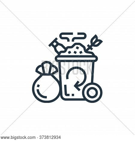 trash icon isolated on white background from climate change collection. trash icon trendy and modern