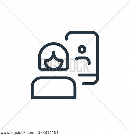 woman icon isolated on white background from work office and meeting collection. woman icon trendy a