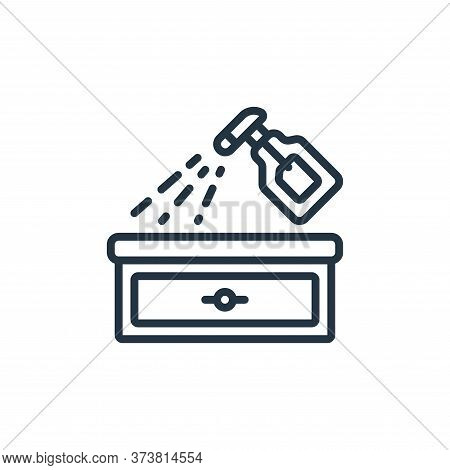 spray bottle icon isolated on white background from hygiene collection. spray bottle icon trendy and