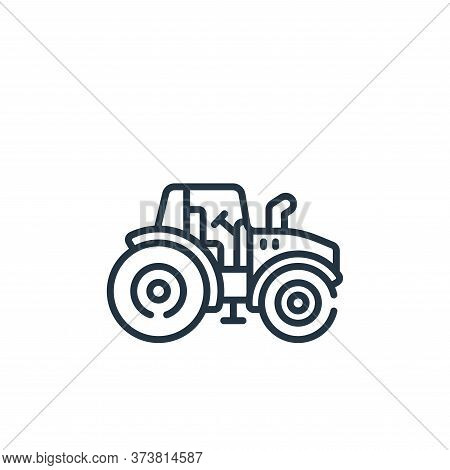 tractor icon isolated on white background from smart farm collection. tractor icon trendy and modern