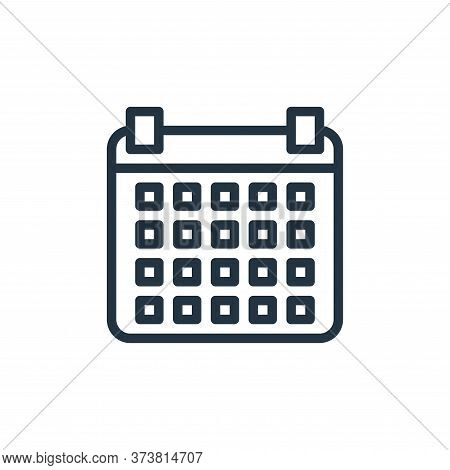 calendar icon isolated on white background from contact collection. calendar icon trendy and modern