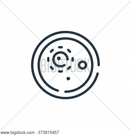 petri dish icon isolated on white background from coronavirus collection. petri dish icon trendy and