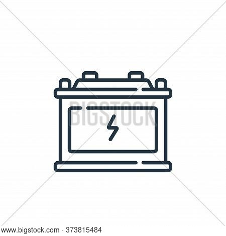 battery icon isolated on white background from auto racing collection. battery icon trendy and moder