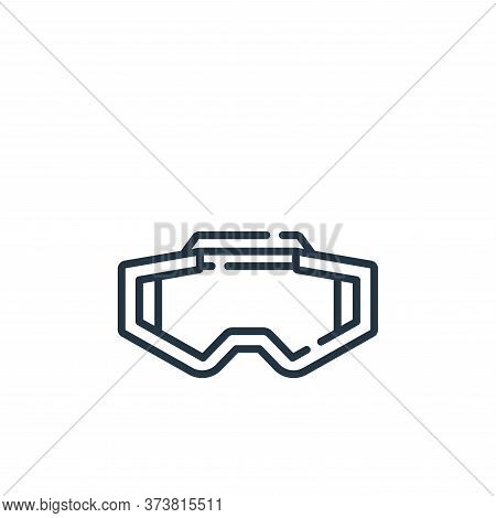 glasses icon isolated on white background from auto racing collection. glasses icon trendy and moder