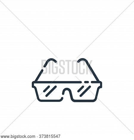glasses icon isolated on white background from startup collection. glasses icon trendy and modern gl