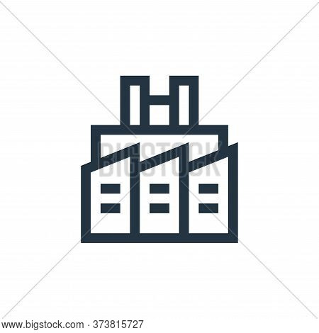 factory icon isolated on white background from industrial process collection. factory icon trendy an