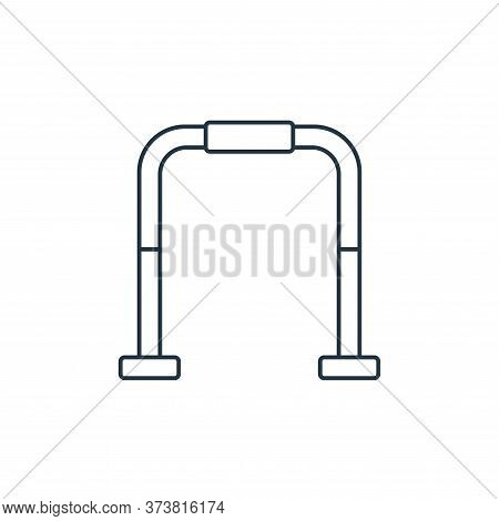 gym bars icon isolated on white background from fitness collection. gym bars icon trendy and modern