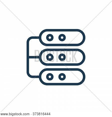 network server icon isolated on white background from work office server collection. network server