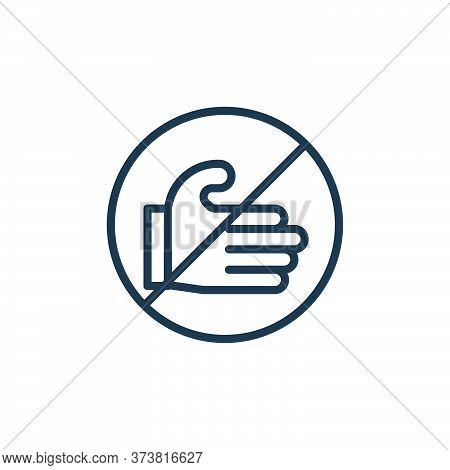 dont touch icon isolated on white background from symptoms virus collection. dont touch icon trendy
