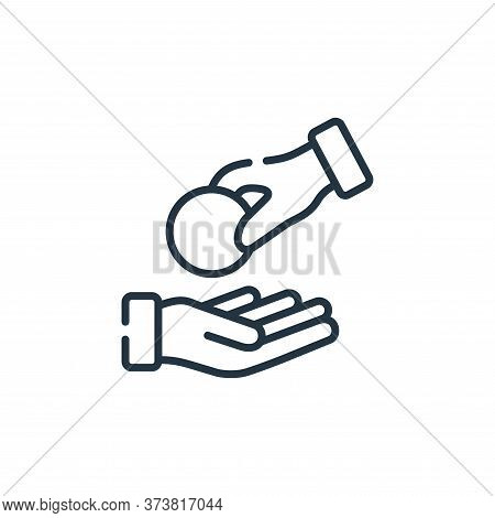 generous icon isolated on white background from kindness collection. generous icon trendy and modern