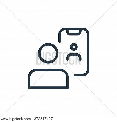 video calling icon isolated on white background from work office and meeting collection. video calli