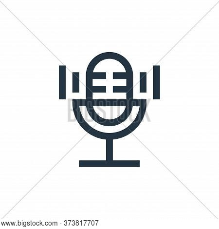 microphone icon isolated on white background from electronics collection. microphone icon trendy and