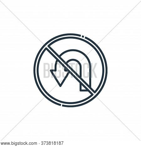 no turn icon isolated on white background from signaling collection. no turn icon trendy and modern
