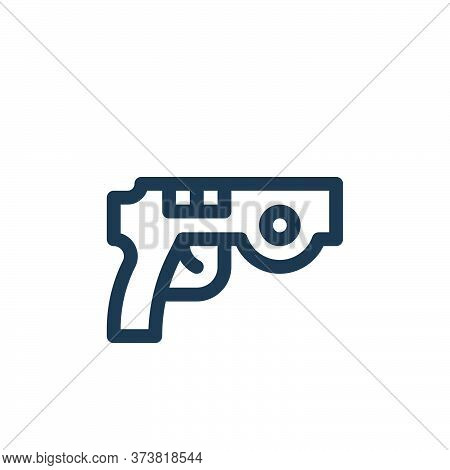 gun icon isolated on white background from virtual reality collection. gun icon trendy and modern gu