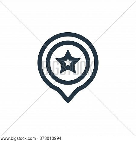 america icon isolated on white background from united states of america collection. america icon tre