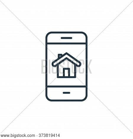 smartphone icon isolated on white background from internet of things collection. smartphone icon tre