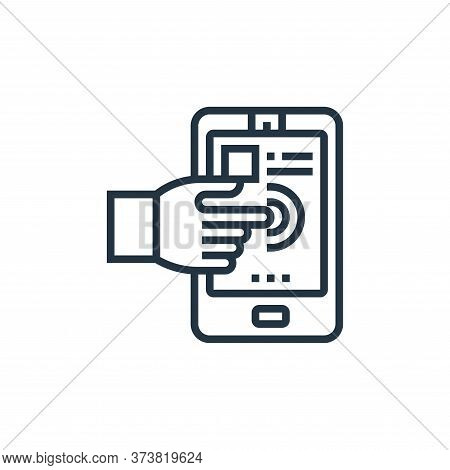 interactive icon isolated on white background from digital transformation collection. interactive ic