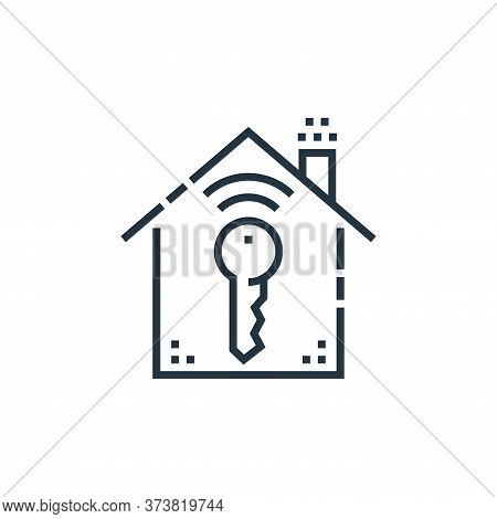 key icon isolated on white background from smarthome collection. key icon trendy and modern key symb