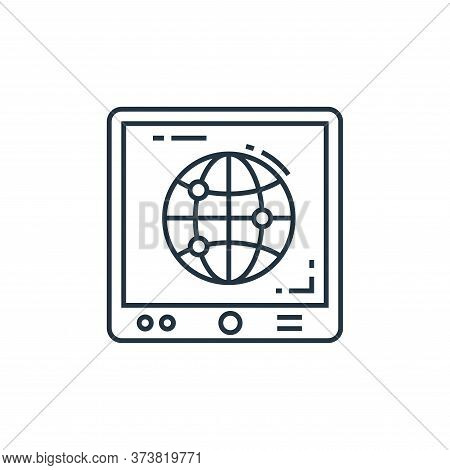 tablet icon isolated on white background from technology devices collection. tablet icon trendy and