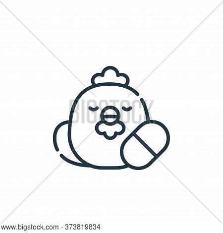 poultry icon isolated on white background from animal welfare collection. poultry icon trendy and mo