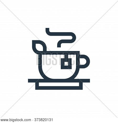 tea icon isolated on white background from vegan collection. tea icon trendy and modern tea symbol f
