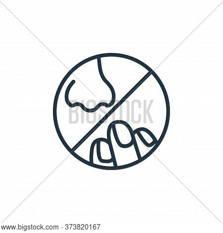 nose icon isolated on white background from stop virus collection. nose icon trendy and modern nose