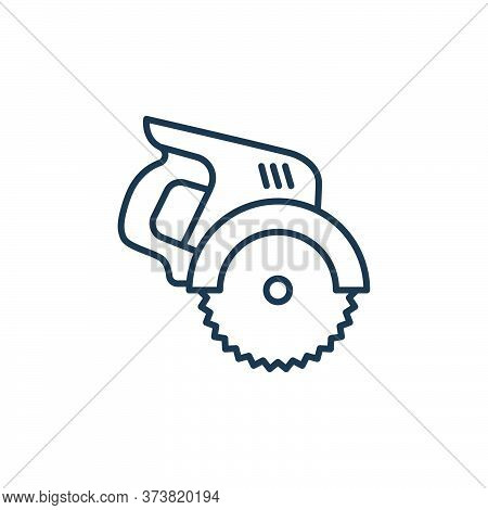 electric saw icon isolated on white background from carpentry collection. electric saw icon trendy a