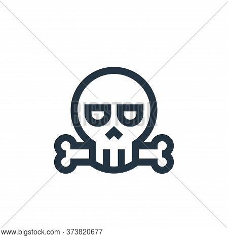death icon isolated on white background from video game elements collection. death icon trendy and m