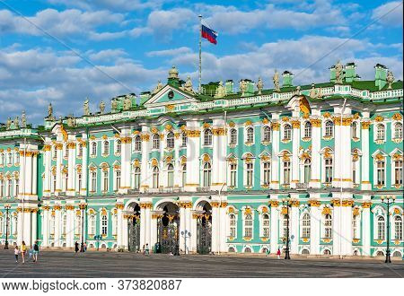 Winter Palace (state Hermitage Museum) On Palace Square, Saint Petersburg, Russia