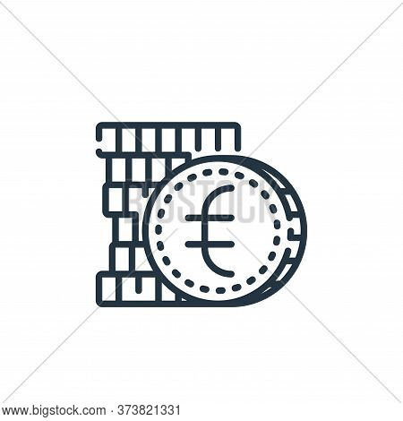 euro icon isolated on white background from banking and money collection. euro icon trendy and moder
