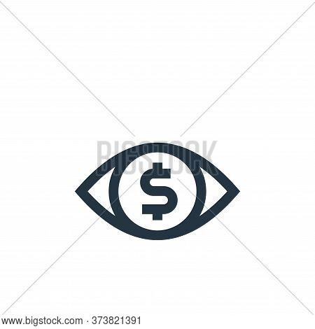 eye icon isolated on white background from marketing and growth collection. eye icon trendy and mode