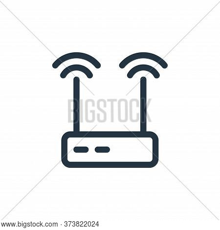 wireless router icon isolated on white background from electronics collection. wireless router icon