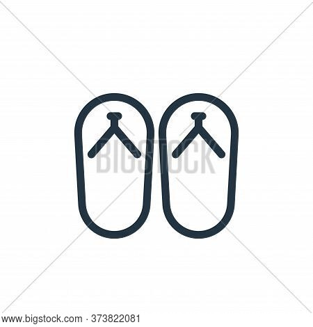slippers icon isolated on white background from holiday collection. slippers icon trendy and modern
