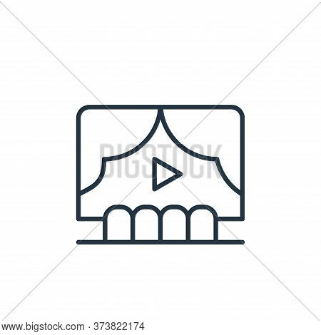 theater icon isolated on white background from cinema collection. theater icon trendy and modern the