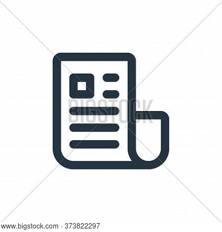 newsletter icon isolated on white background from user interface collection. newsletter icon trendy