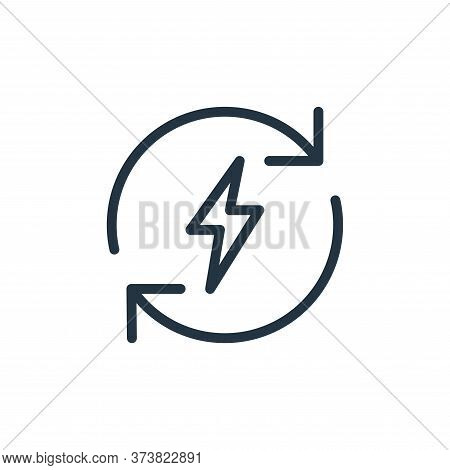 energy icon isolated on white background from data transfer collection. energy icon trendy and moder