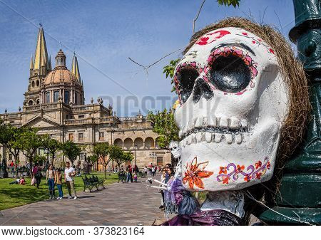 Guadalajara, Jalisco, Mexico - November 23, 2019: Tourist And Locals Enjoying The Day During A Day O