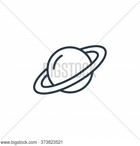 saturn icon isolated on white background from space collection. saturn icon trendy and modern saturn