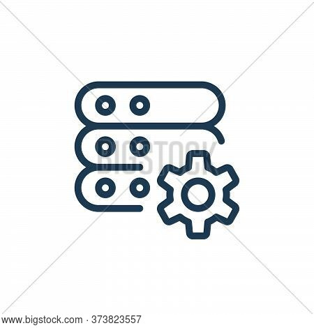 setting icon isolated on white background from work office server collection. setting icon trendy an