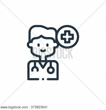 doctor icon isolated on white background from medicine collection. doctor icon trendy and modern doc