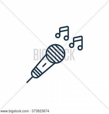 microphone icon isolated on white background from music instruments collection. microphone icon tren