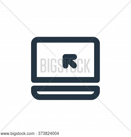 laptop icon isolated on white background from electronics collection. laptop icon trendy and modern