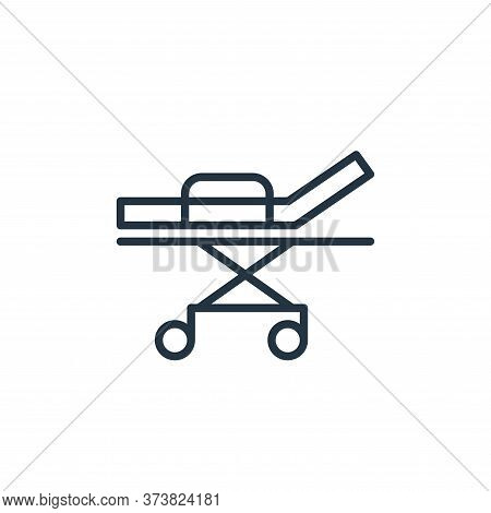 bed icon isolated on white background from stop virus collection. bed icon trendy and modern bed sym