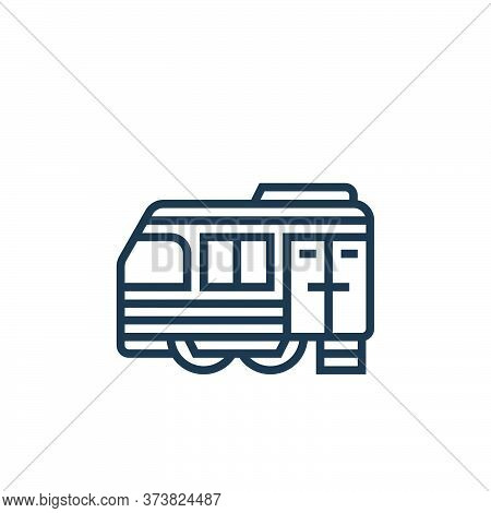 train cargo icon isolated on white background from railway collection. train cargo icon trendy and m