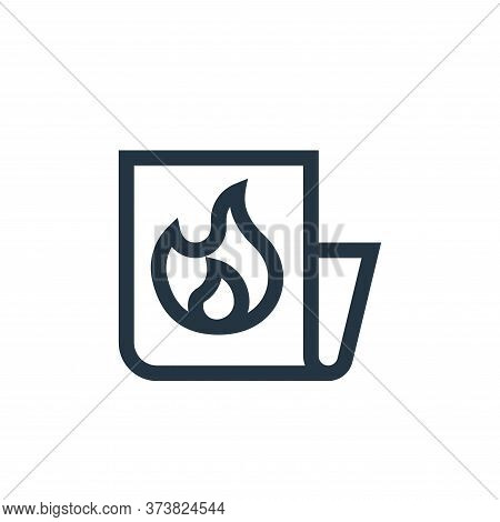 hot icon isolated on white background from news collection. hot icon trendy and modern hot symbol fo